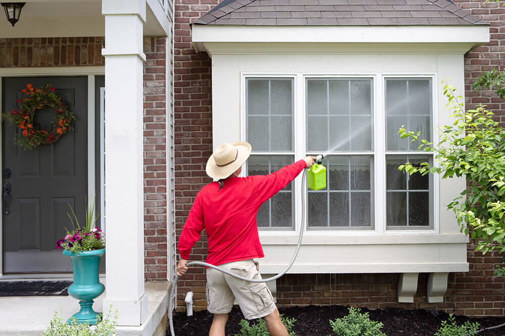 spring cleaning the outside of your home