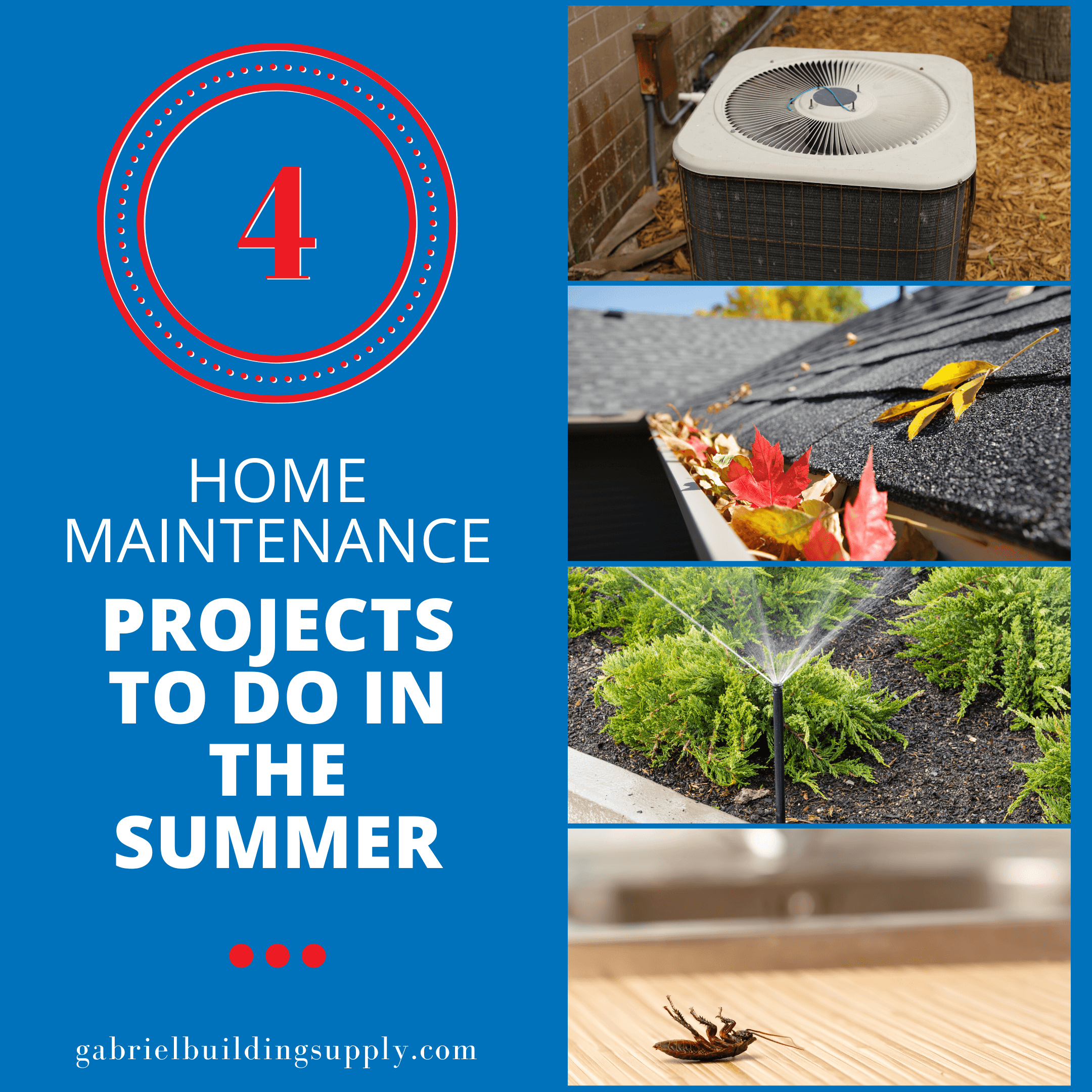 a picture of 4 home maintenance projects to do at home in the summer